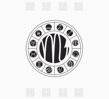 Scorpio Zodiac Wheel with I Ching Hexagrams by Chris Hopkins