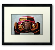 The Getaway Car Framed Print
