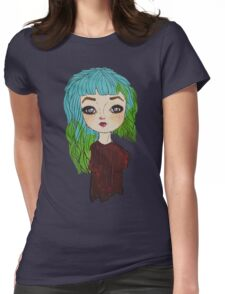 Dolly eyed Womens Fitted T-Shirt