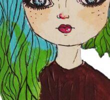 Dolly eyed Sticker