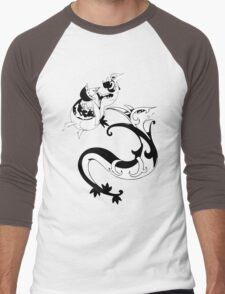 Snivy Evolution Line Men's Baseball ¾ T-Shirt