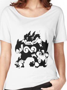 Tepig Evolution Line Women's Relaxed Fit T-Shirt