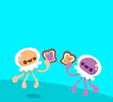 Peanut Butter Jellyfish Love by murphypop