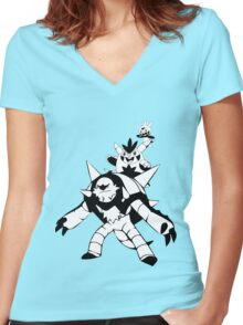 Chespin Evolution Line Women's Fitted V-Neck T-Shirt