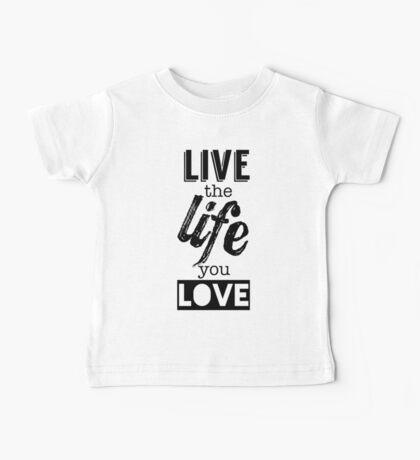 Live Life Love Baby Tee