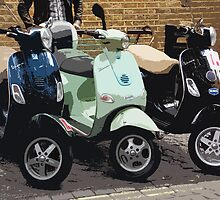 Brick lane scooters by Bob Hickman
