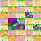 Happy Spring Tulips Flower Collage by Marianne Campolongo