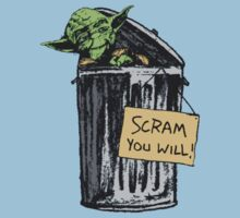 Yoda - Scram you Will! Kids Clothes