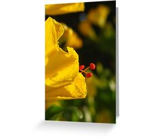Abuelita's Garden Flower Yellow Greeting Card