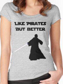Jedi - Like pirates but better. Women's Fitted Scoop T-Shirt