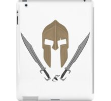Spartan helmet swords iPad Case/Skin