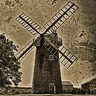 Horsey windpump sepia by Avril Harris