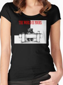 The World Is Yours Women's Fitted Scoop T-Shirt