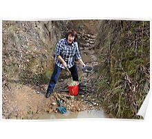 Prospecting in Golden Gully - Hill End NSW Australia Poster