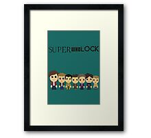 SupercuteWhoLock Framed Print