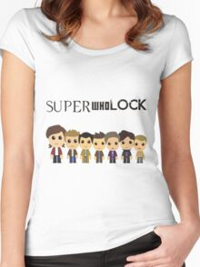 SupercuteWhoLock Women's Fitted Scoop T-Shirt