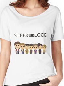 SupercuteWhoLock Women's Relaxed Fit T-Shirt