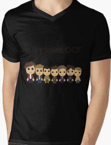 SupercuteWhoLock Mens V-Neck T-Shirt