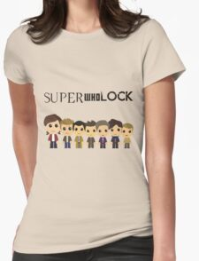 SupercuteWhoLock Womens Fitted T-Shirt