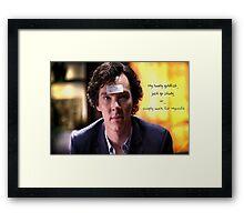 Go study, goldfish-Sherlock Holmes Framed Print