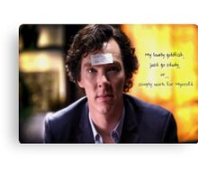 Go study, goldfish-Sherlock Holmes Canvas Print