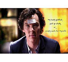 Go study, goldfish-Sherlock Holmes Photographic Print