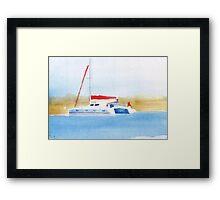 Island Cruising Framed Print