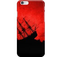 Red Storm Tossed Ship iPhone Case/Skin