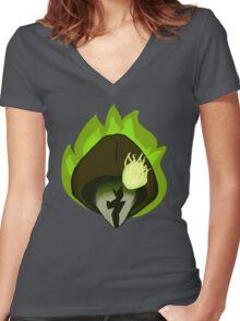 Grenth Women's Fitted V-Neck T-Shirt