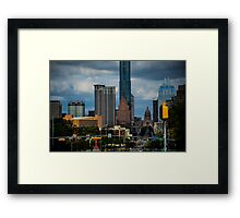 A Colorful Day in Austin Texas Framed Print