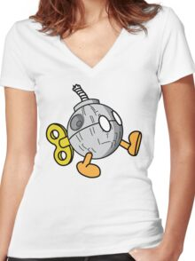 That's no Bob-omb Women's Fitted V-Neck T-Shirt