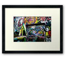 A Window of Graffiti in Austin Framed Print