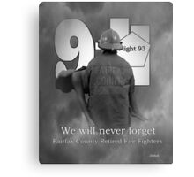 We will  never forget Canvas Print