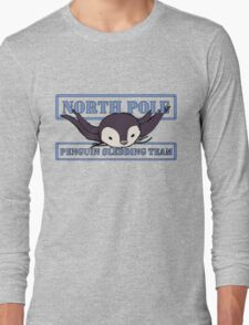 Penguin Sledding Team Long Sleeve T-Shirt
