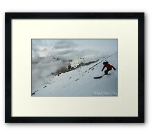 Skiing Down the North Face of Alyeska Framed Print