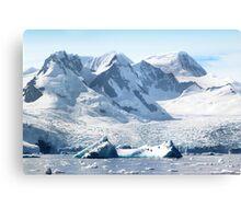 Cierva Cove with Glaciers & Iceberg Canvas Print
