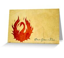 Swan on Fire  Greeting Card