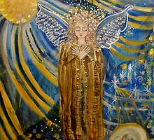 Golden Blue Angel of Peace  by JulianaLachance