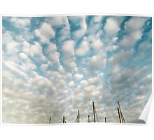 Cotton Ball Clouds Poster