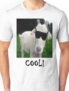 Cool White Goat Unisex T-Shirt