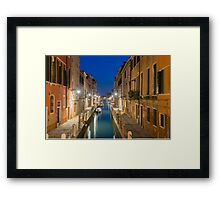 Canal in Venice Framed Print