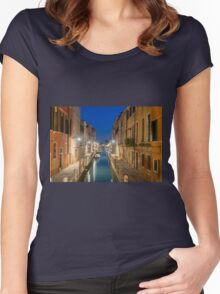 Canal in Venice Women's Fitted Scoop T-Shirt