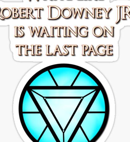 Robert Downey Jr. is Waiting Sticker