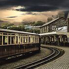 Ffestiniog Railway Station by Irene  Burdell