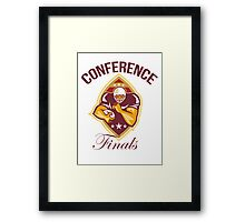 American Football Conference Finals Ball Framed Print
