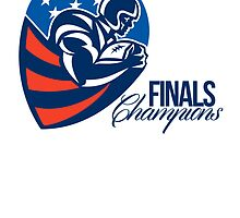 American Football Finals Champions Retro by patrimonio