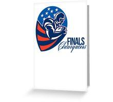 American Football Finals Champions Retro Greeting Card
