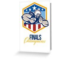 American Football Running Back Finals Champions Greeting Card