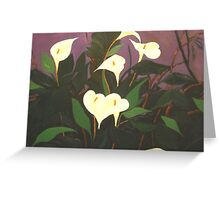 Dream White Lillies Greeting Card