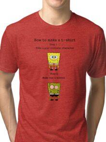 Spongebob zombie Tri-blend T-Shirt